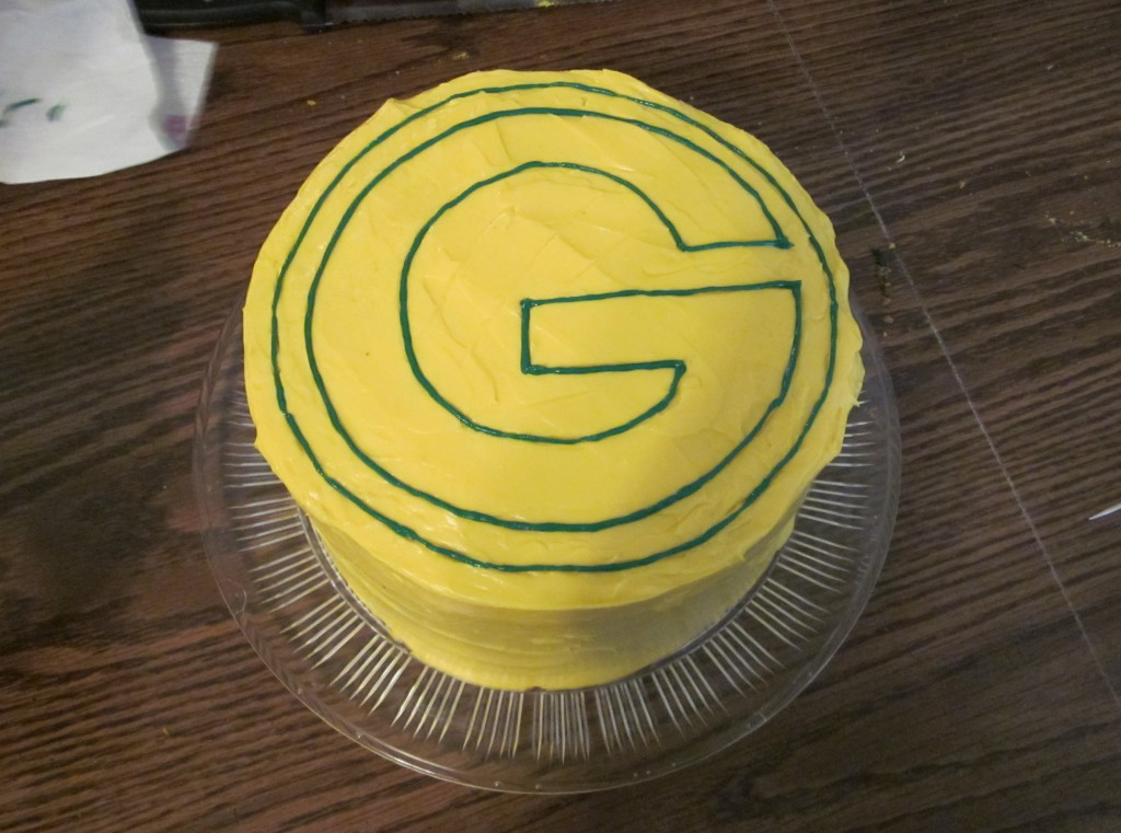 Green Bay Packers Cake   Curious Cuisiniere