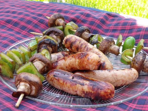 Charcoal Grilling 101 and Balsamic Vegetable Kebabs
