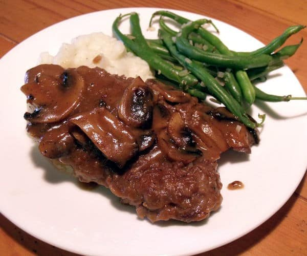 Venison Steak Marsala
