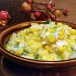 Leek Creamed Corn