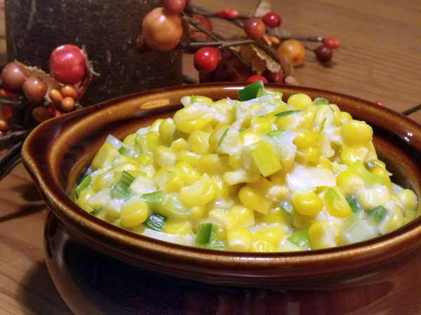 Homemade creamed corn is easy and MUCH more flavorful than the store bought version! | www.curiouscuisiniere.com
