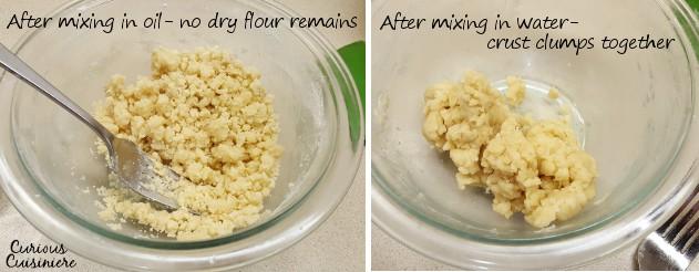 Making Oil Pie Crust   www.CuriousCuisiniere.com