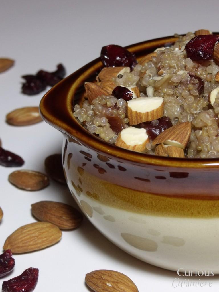Breakfast Cranberry Almond Quinoa