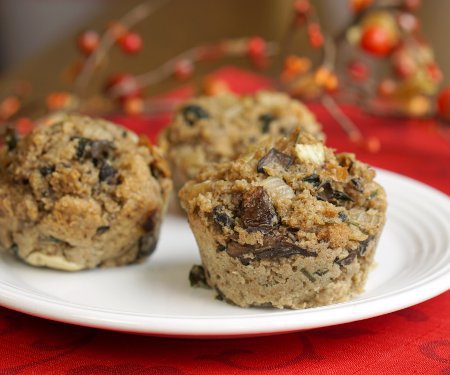 Dill and Mushroom Stuffing Muffins