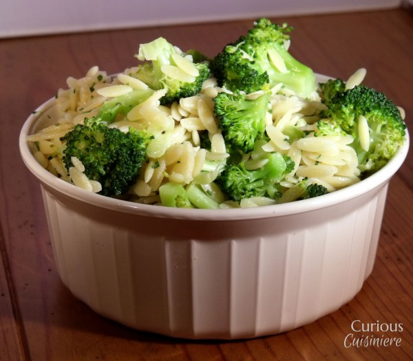 Orzo with Parsley and Broccoli