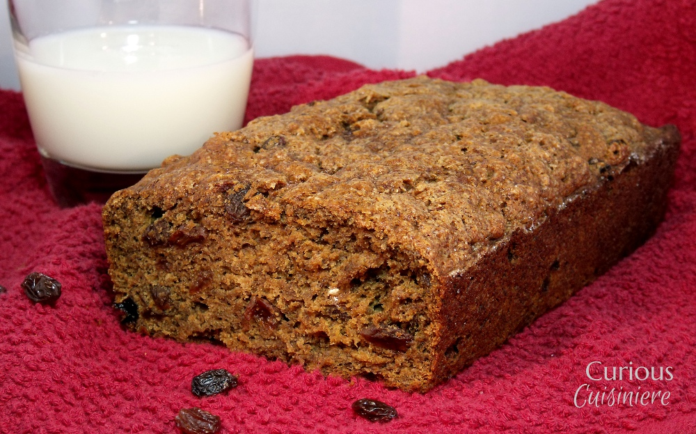 Healthy Rum Raisin Bread - Curious Cuisiniere