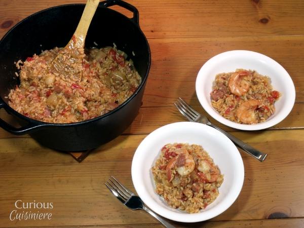 Shrimp and Ham Jambalaya - Curious Cuisiniere