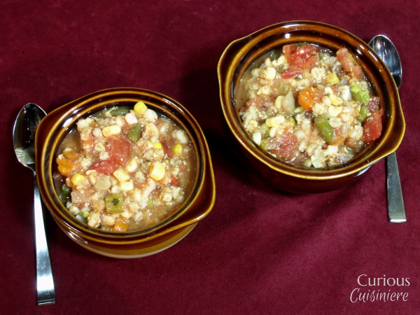 Clhunky Vegetable and Barley Soup via Curious Cuisiniere