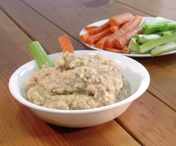 If you love hummus, you'll love the smoky twist of this White Bean Dip. It is the perfect, healthy appetizer recipe. | www.CuriousCuisiniere.com