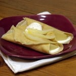 White Wine Poached Pear Crepes