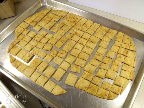 Sourdough Cheese Crackers via Curious Cuisiniere