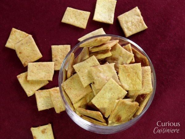 Sourdough Cheese Crackers via Curious Cuisiniere