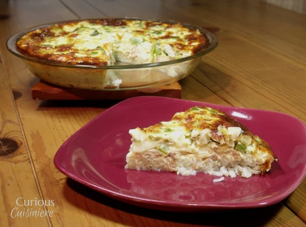 Tuna Rice Quiche | Curious Cuisiniere