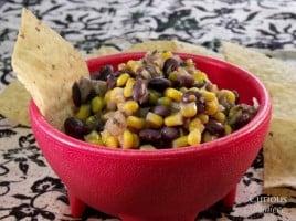 Sweet and Tangy Black Bean Salsa via Curious Cuisiniere