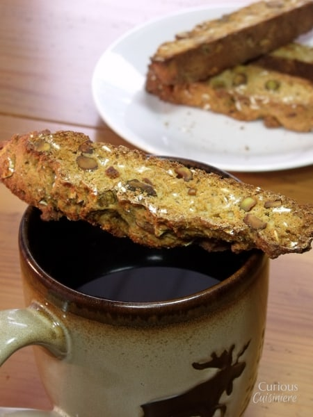 Pistachio Biscotti from Curious Cuisiniere
