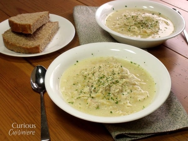 Avgolemono – Greek Egg and Lemon Soup