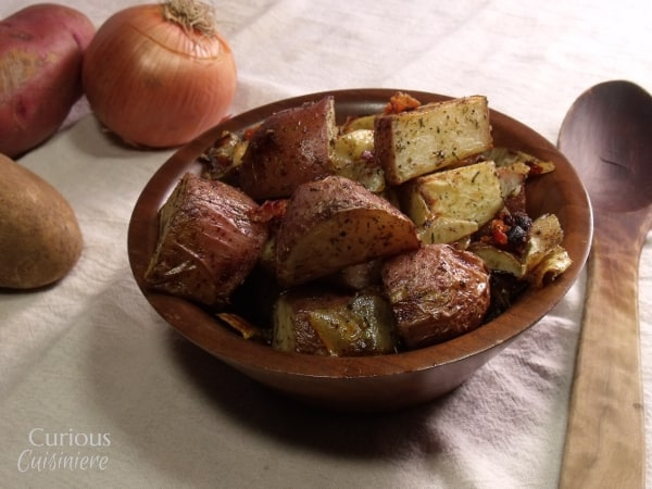 Roasted Potatoes with Bacon from Curious Cuisiniere
