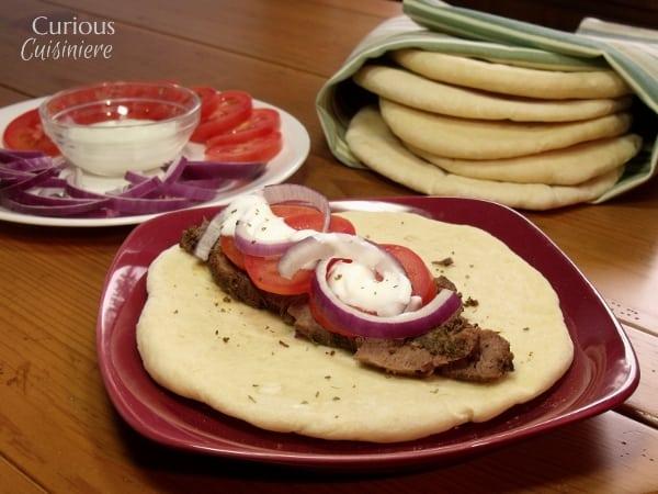 Venison Steak Gyros from Curious Cuisiniere