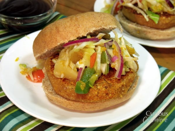 The barbecue sauce you choose will take these BBQ Chickpea Burgersin fun and new directions, giving you a veggie burger so flavorful that you won't miss the meat! | www.CuriousCuisiniere.com