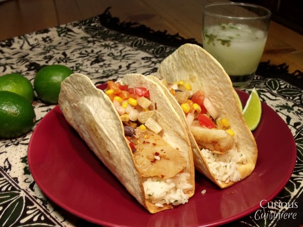 FishTacos with Lime Salsa from Curious Cuisiniere