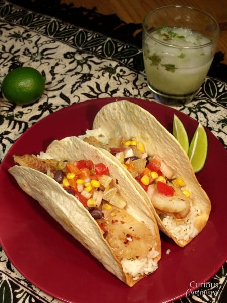 Fish Tacos with Lime Salsa from Curious Cuisiniere