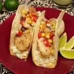 Fish Tacos with Lime Salsa #SundaySupper