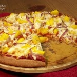 Mango BBQ Chicken Pizza (With Homemade Mango Barbecue Sauce)