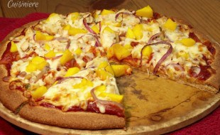 Mango BBQ Chicken Pizza from Curious Cuisiniere