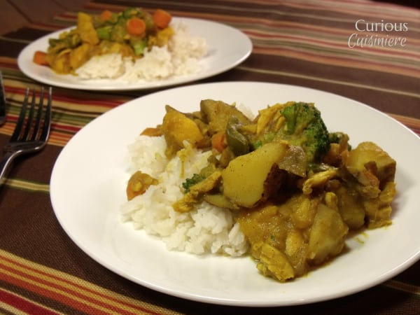 Mango Curry with Chicken and Vegetables from Curious Cuisiniere