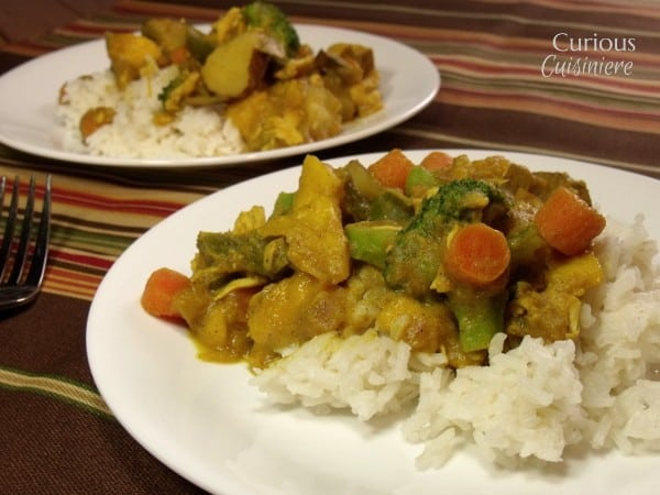 Mango Curry with Vegetables and Chicken