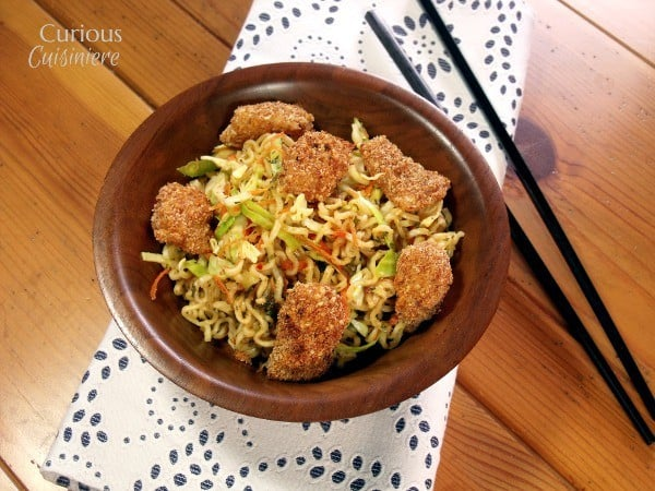 Thai Style Cabbage Salad with Crispy Fish