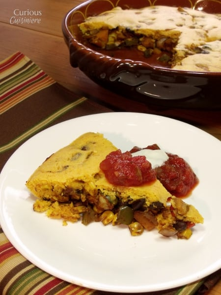 Cornbread Tamale Pie wth Beans and Butternut Squash from Curious Cuisiniere