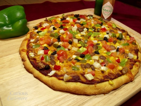 Cornmeal Crust for Mexican Pizza from Curious Cuisiniere