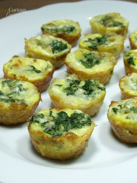 Potato Crusted Italian Spinach Mini Quiche from Curious Cuisiniere