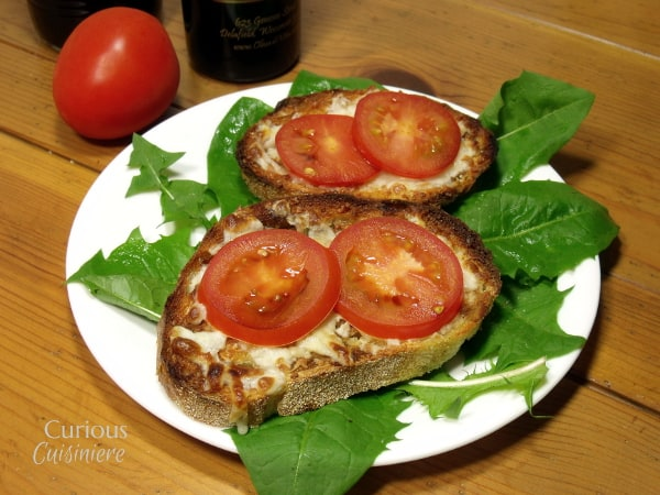 Individual Sourdough Caprese Pizzas from Curious Cuisiniere