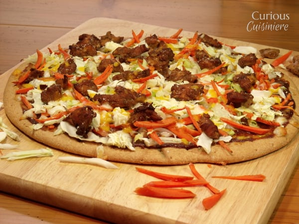 Chicken Teriyaki Pizza from Curious Cuisiniere