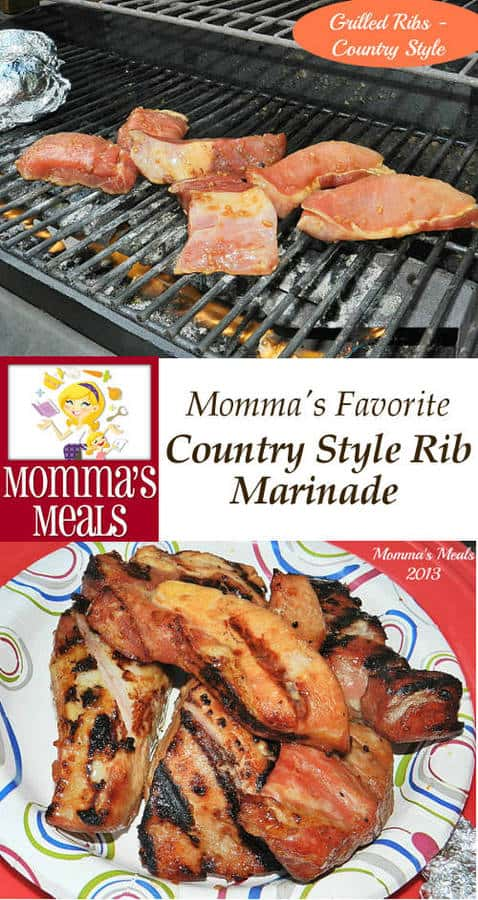 This Country Style Rib Marinade is simple to make using pantry staples. It is sure to become a family favorite! | Guest Post on Curious Cuisiniere from Momma's Meals