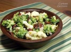Broccoli and Cauliflower Salad from Curious Cuisiniere