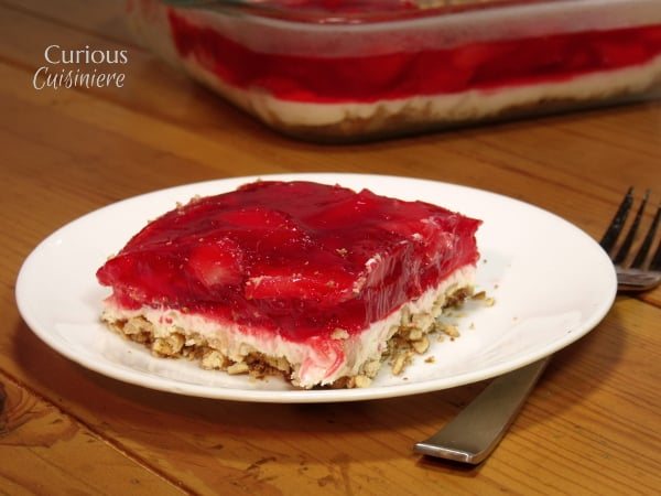 Strawberry Pretzel Salad from Curious Cuisiniere