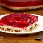 Strawberry Pretzel Salad with Fresh Strawberries