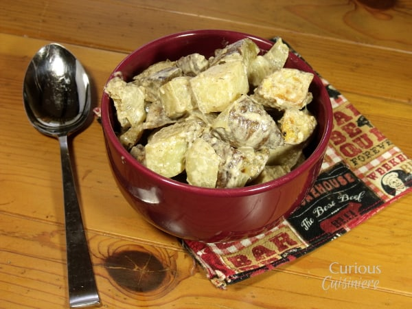 Roasted Thyme and Rosemary Potato Salad from Curious Cuisiniere