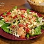 Jicama Salsa over a Seafood Taco Salad (and What is Jicama?)