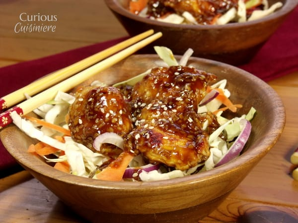 Skillet Honey Sesame Chicken Salad from Curious Cuisiniere