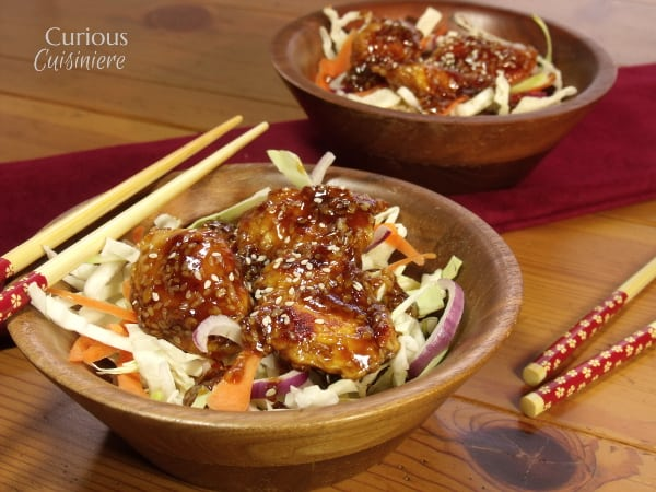 Baked Honey Sesame Chicken Salad from Curious Cuisiniere