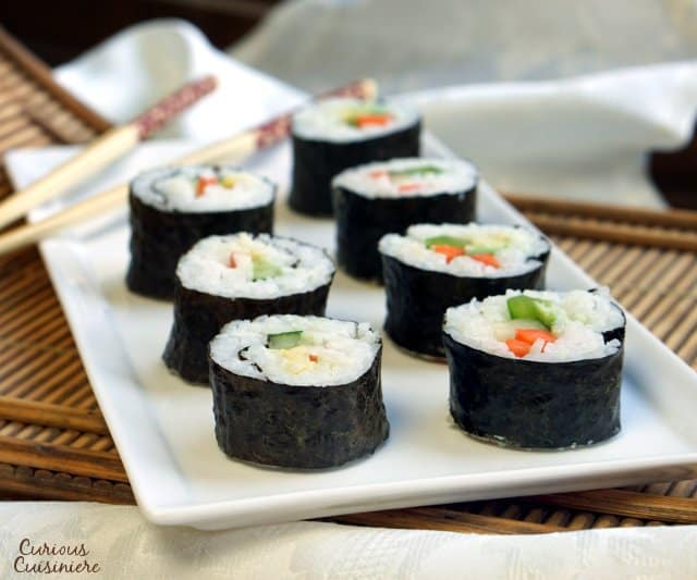 Everyone we make sushi with is amazed how easy the process really is. So, what are you waiting for? Let's make some sushi! | www.CuriousCuisiniere.com