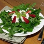 Strawberry Kiwi Salad with Dandelion Greens