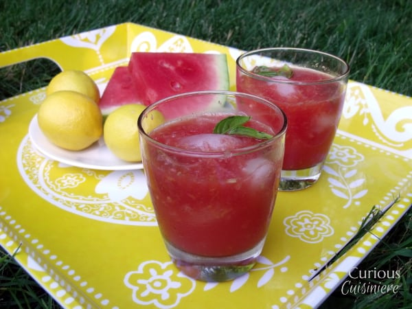 Watermelon Basil Lemonade from Curious Cuisiniere