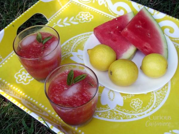 ... Basil Lemonade was inspired by Sara's Sparkling Watermelon Lemonade