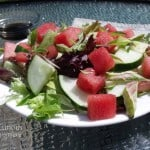 Watermelon Basil Salad with Honey Balsamic Dressing