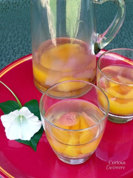 Strawberry Peach Sangria from Curious Cuisiniere